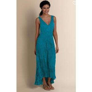 Soft Surroundings La Paz Maxi Dress Teal
